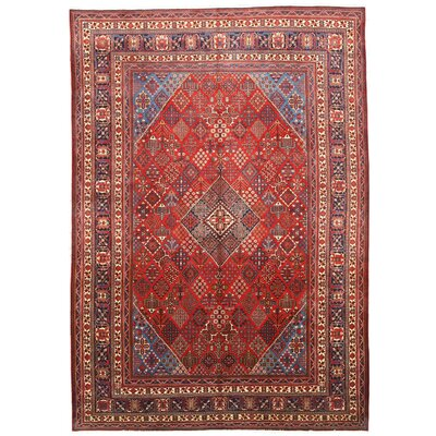 Mei-Mei Hand-Knotted Red Area Rug