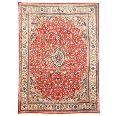 Sarouk Mahal Hand-Knotted Red Area Rug