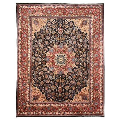 Mashad Hand-Knotted Navy Area Rug
