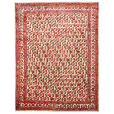 Paisley Mood Hand-Knotted Ivory Area Rug