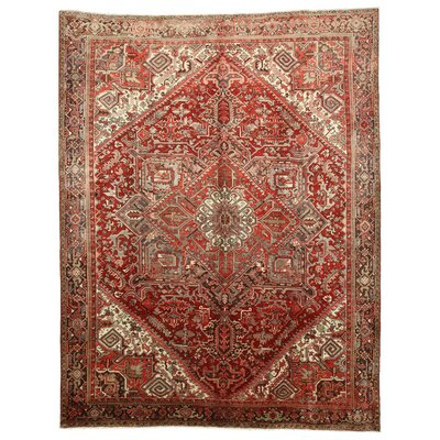 Heriz Hand-Knotted Red Area Rug