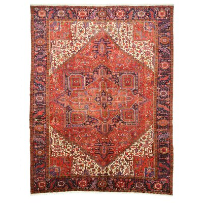 Heriz Hand-Knotted Rust Area Rug