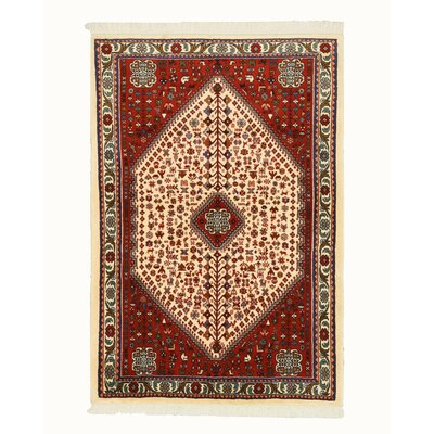 Abadeh Hand-Knotted Ivory Area Rug