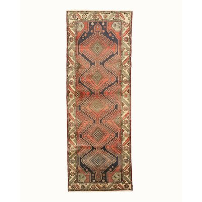 Hamedan Hand-Knotted Navy Area Rug