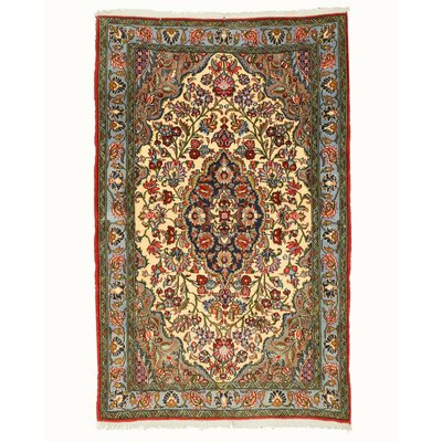 Qum Hand-Knotted Ivory Area Rug