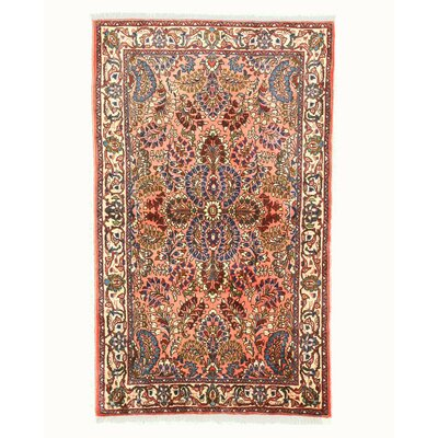 Sarouk Hand-Knotted Pink Area Rug