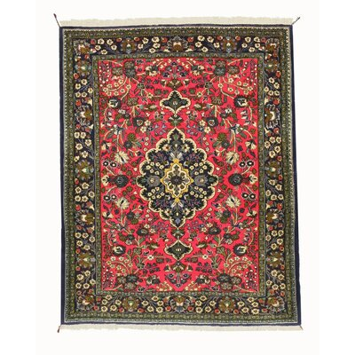 Qum Hand-Knotted Pink Area Rug