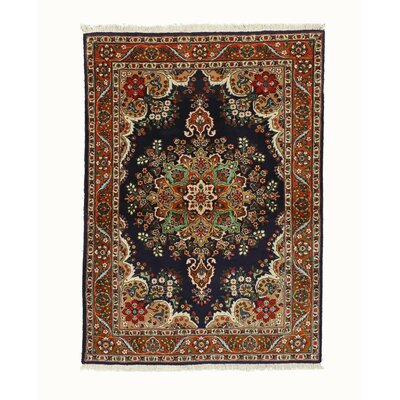 Tabriz Hand-Knotted Navy Area Rug