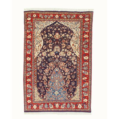 Sarouk Hand-Knotted Navy Area Rug