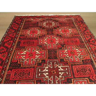 Baluchi Hand-Knotted Brown Rug