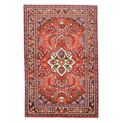 Hand-Knotted Rust Area Rug