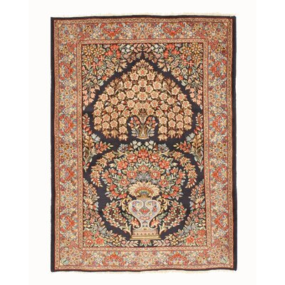 Kerman Hand-Knotted Navy Area Rug