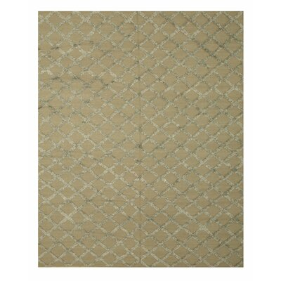 Marakesh Hand-Woven Silver Area Rug Rug Size: 10 x 14