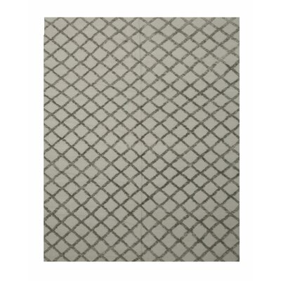 Marakesh Hand-Woven Silver/Charcoal Area Rug Rug Size: 8 x 10