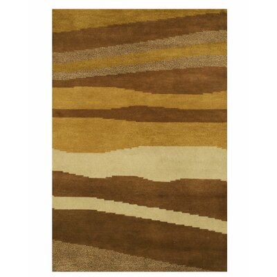 Nepalese Hand-Knotted Brown Area Rug