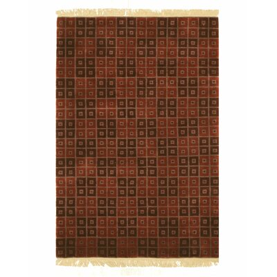 Nepalese Hand-Knotted Red Area Rug