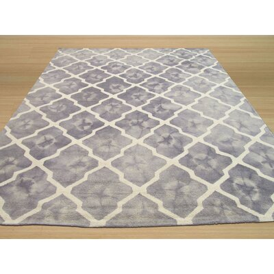 Hand Tufted Gray Area Rug Rug Size: Rectangle 5 x 8