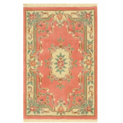 Aubusson Hand-Tufted Pink Area Rug