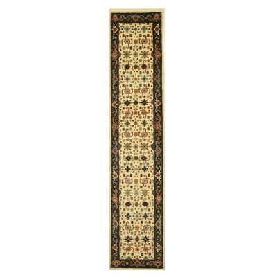 Super Mahal Hand-Knotted Ivory Area Rug
