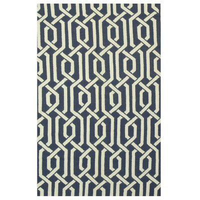 Moroccan Handmade Blue Area Rug Rug Size: 5 x 8