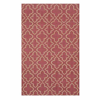 Moroccan Handmade Pink Area Rug Rug Size: 5 x 8