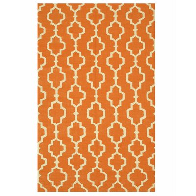 Moroccan Handmade Orange Area Rug Rug Size: 9 x 12