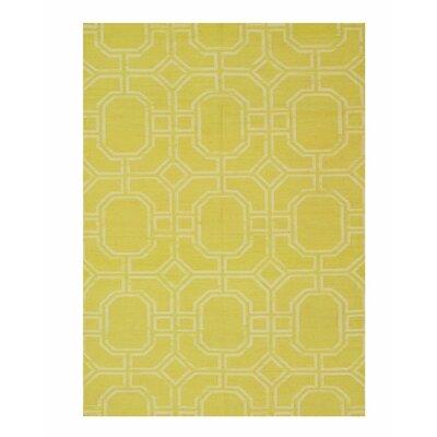 Moroccan Handmade Yellow Area Rug Rug Size: 5 x 8