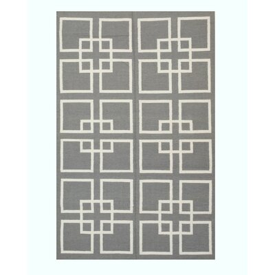 Moroccan Handmade Gray Area Rug Rug Size: 8 x 10