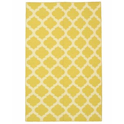 Moroccan Handmade Yellow Area Rug Rug Size: 10 x 14