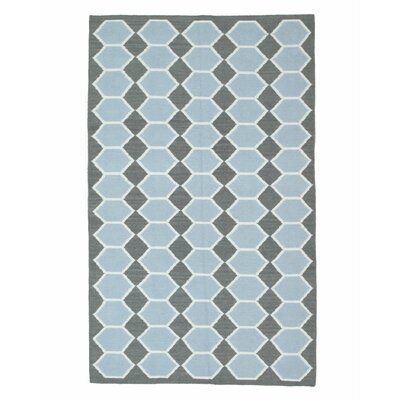 Moroccan Handmade Blue Area Rug Rug Size: 10 x 14