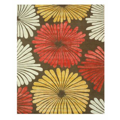 Sunflower Hand-Tufted Wool Brown Area Rug Rug Size: 10 x 14