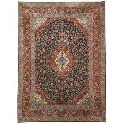 Kashan Hand-Knotted Red Area Rug