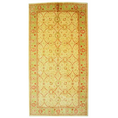 Mahal Hand-Knotted Yellow Area Rug