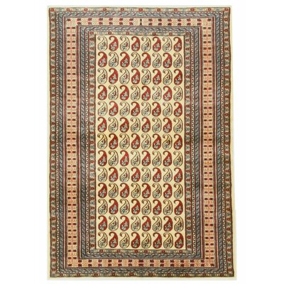 Pak-Pasley Hand-Knotted Beige Area Rug