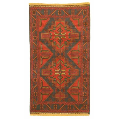 Baluchi Hand-Knotted Blue/Red Area Rug