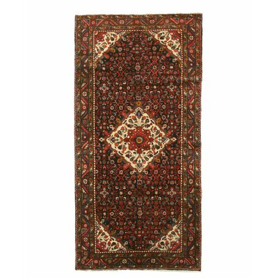 Hamedan Hand-Knotted Wool Red/Beige Area Rug