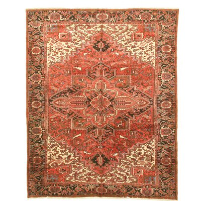 Aren Hand-Knotted Orange/Beige Area Rug