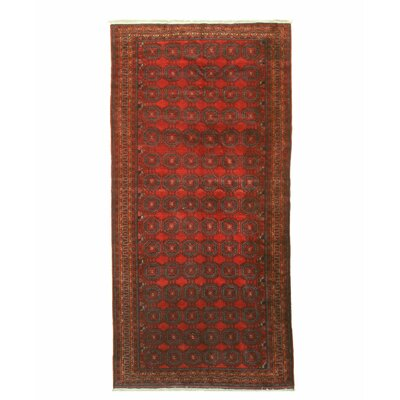 Baluchi Hand-Knotted Red Area Rug
