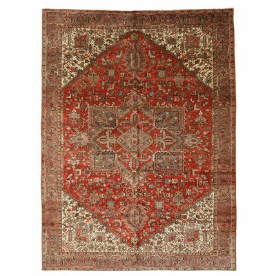 Aren Hand-Knotted Red/Brown Area Rug