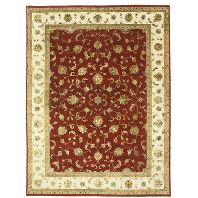 Jaipur Hand-Knotted Red/Beige Area Rug