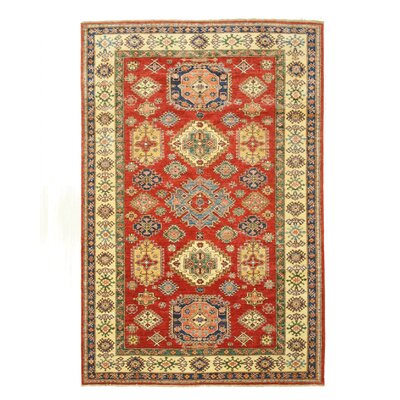 Super Kazak Hand-Knotted Red/Beige Area Rug