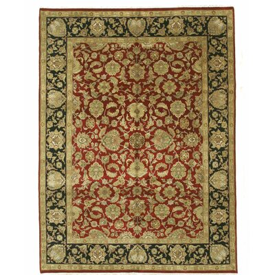 Jaipur Hand-Knotted Red/Black Area Rug