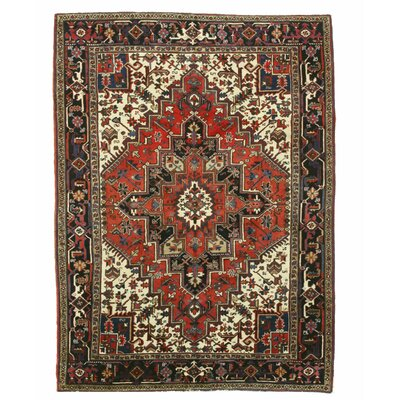 Aren Hand-Knotted Red/Beige/Black Area Rug