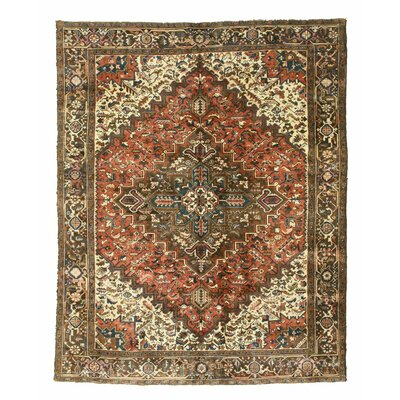 Heriz Hand-Knotted Red/Brown Area Rug