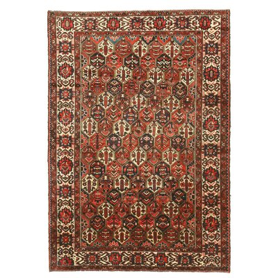 Bakhtiar Hand-Knotted Red/Orange Area Rug