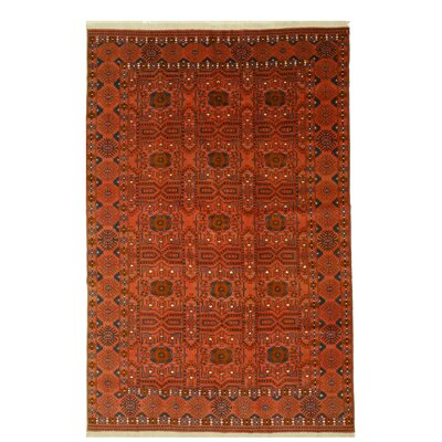 Bokhara Hand-Knotted Red/Beige Area Rug