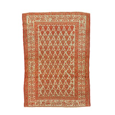 Malayer Hand-Knotted Rust Area Rug