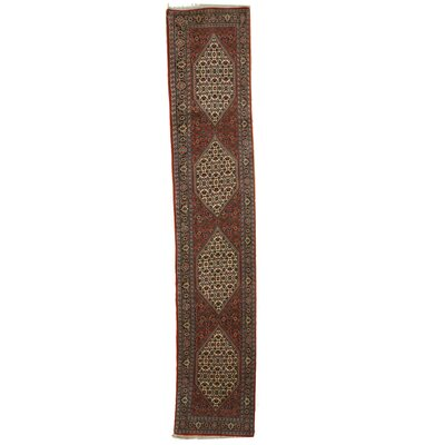 Bidjar Hand-Knotted Rust/Ivory Area Rug