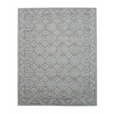 Sivas Hand-Knotted Gray Area Rug Rug Size: 5 x 8