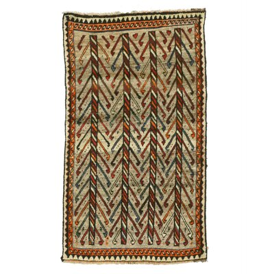 Shiraz Hand-Knotted Beige/Orange Area Rug